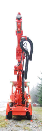mine drilling machine with lifted driller Stock Photo - 2145559