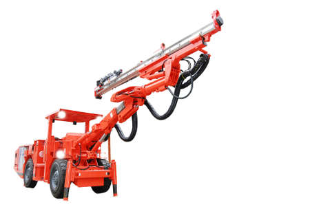 Heavy duty mine drilling machine isolated