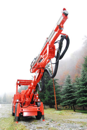 Heavy duty mine drilling machine Imagens