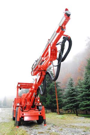 Heavy duty mine drilling machine Stock Photo