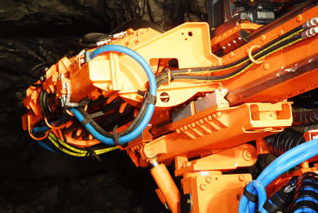 New heavy duty driller machine in a mine