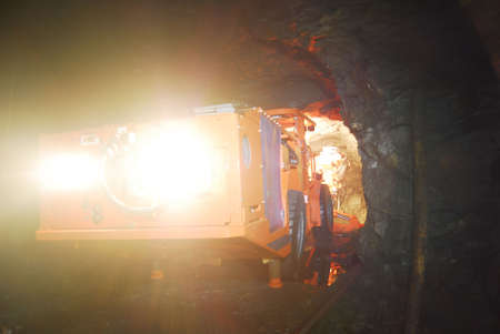 mine drilling machine inside of a mine