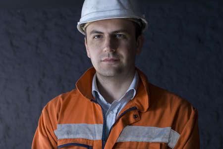 Miner portrait stock photo Standard-Bild