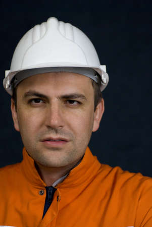 Portrait of a miner stock photo photo