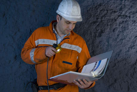 Engineer checking the plan stock photo photo