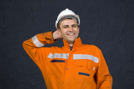 Miner is feeling relaxed after job well done stock photo Stock Photo - 2972456