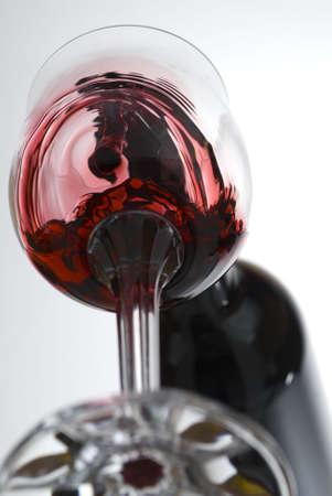Vine pouring captured from strange perspective stock photo Standard-Bild