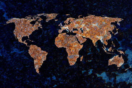 end of the world: Concept of the earth rusting as a ecological warning
