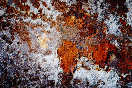 Old metallic background rusted blue and brown color photo