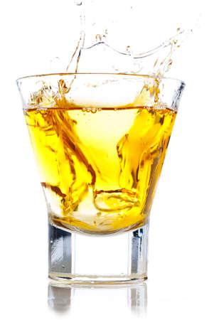 Splash of whiskey on the rocks
