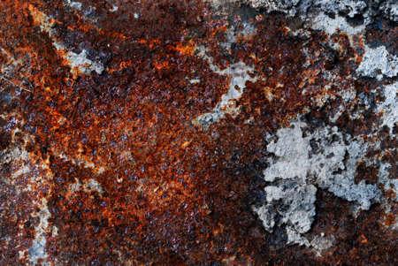 Rusty metal plate closeup Stock Photo