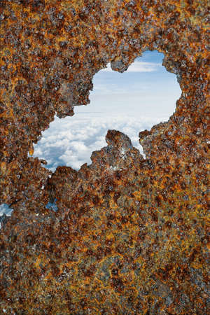 Rusty view above the clouds concept photo Stock Photo - 10889279
