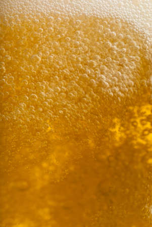 Bubble motion in a beer keg closeup Stock Photo