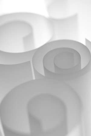 Spiral paper rolls abstract background template photo