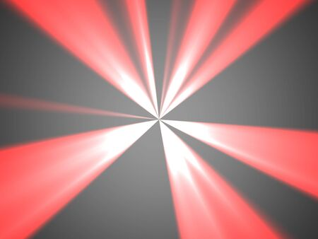 Red, white and gray abstract background with beams