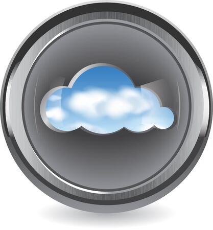 Cloud shape cut out from brushed metal with a view of the clouds in the sky. Cloud computing abstract concept. Vector illustration. Stock Vector - 12386655