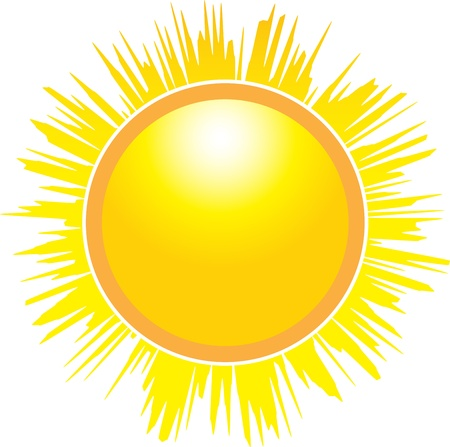 The Sun isolated on white background. Vector illustration