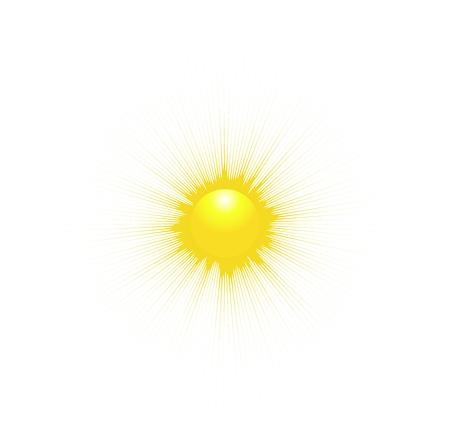 soleil rigolo: Le Soleil isol� sur fond blanc. Vector illustration