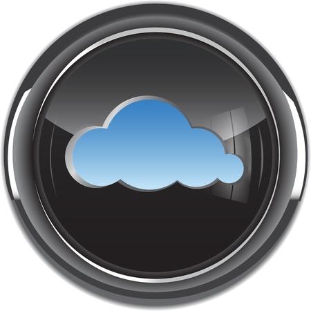 Кнопки: Облачные вычисления значок кнопки векторные иллюстрации