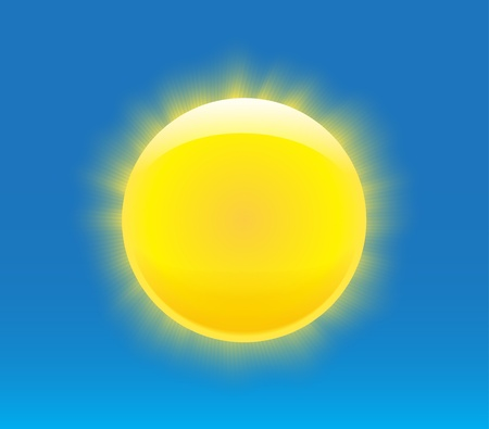 Sun with nice realistic rays. Vector illustration Stock Vector - 14359265