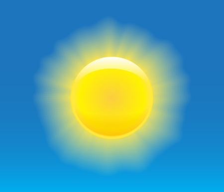 Sun with nice graphical rays. Vector illustration Vector