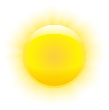 Sun with nice realistic rays and transparency ends  Vector illustration Vector