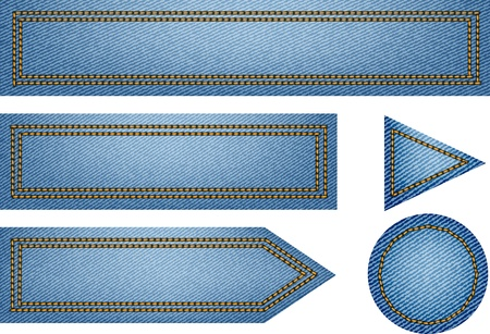 Nice jeans texture web elements vector illustration Vector