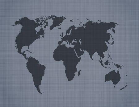 north america map: World map on linen background Illustration