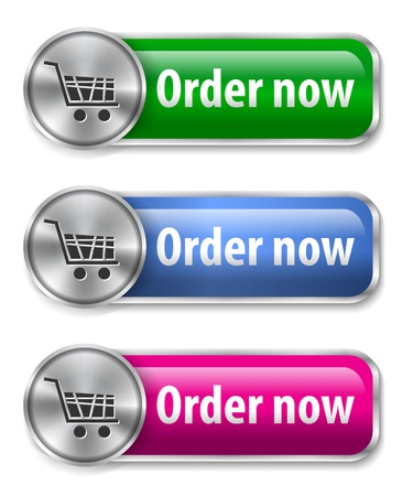 Electronic commerce web elements for online store.  Vector