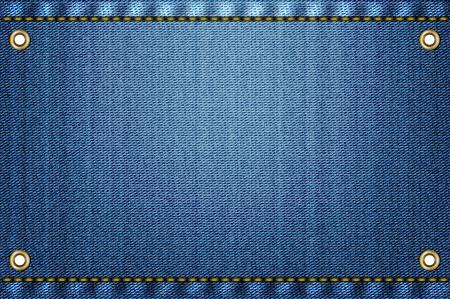 Blue jeans achtergrond Vector Illustratie