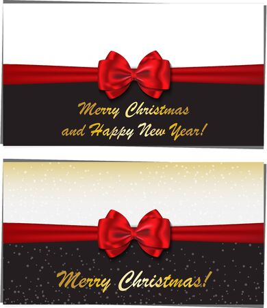 Merry Christmas and Happy New Year luxury greeting cards  Vector illustration Stock Vector - 16560565
