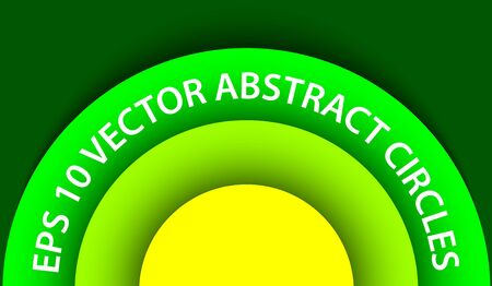 Green abstract circles background for web usage  illustration Vector