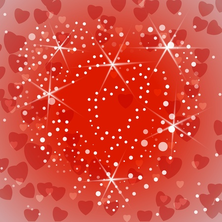Shiny Valentine or wedding background.  illustration Stock Vector - 17542411