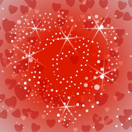 Shiny Valentine or wedding background.  illustration Stock Vector - 17542411