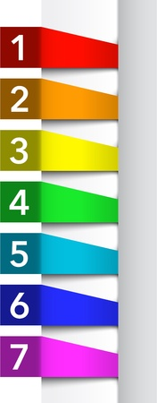 Abstract numbered color banners template. Vector illustration Stock Vector - 17727868