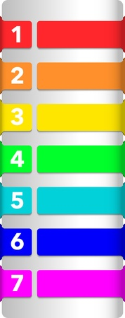 Abstract numbered colorful banners Vector