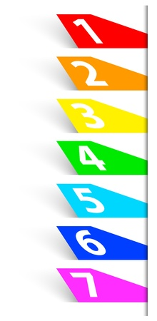 Abstract numbered colorful banners. Vector illustration Vector