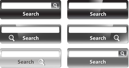 Several types of search bar design Vector
