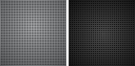 Metallic backgrounds with holes Vector