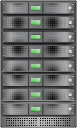datacenter: Servers in installed in rack
