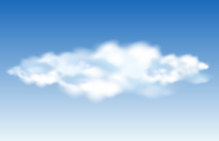 Realistic vector clouds in the blue sky Vector