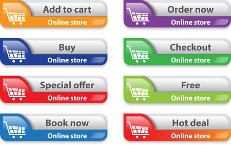 Online shop web interface elements. Vector illustration Vector