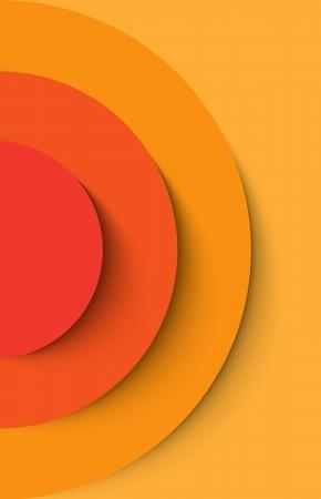 orange cut: Orange c�rculos abstractos con fondo de sombra. Ilustraci�n vectorial