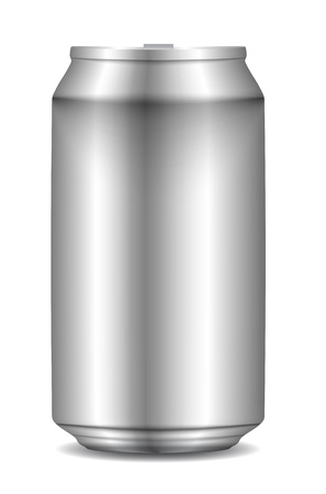 ml: Aluminum Can isolated on white. Vector Illustration