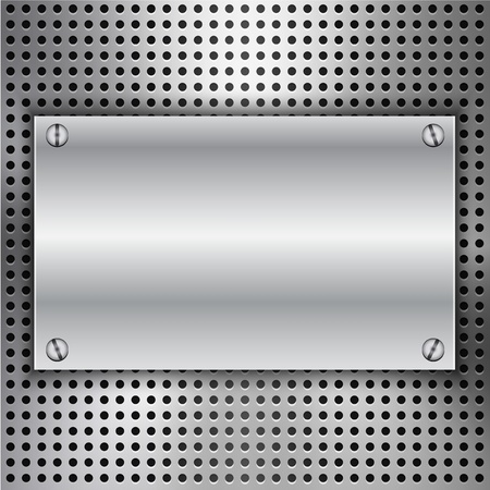 inset: Abstract background with metal inset.illustration Illustration