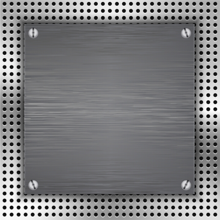 inset: Abstract background with brushed metal inset. illustration