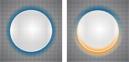 2 Abstract backgrounds with circle insets. illustration Vector