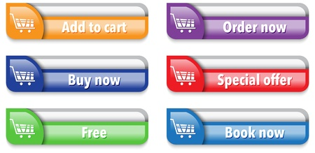 Online shop web interface elements. illustration Vector