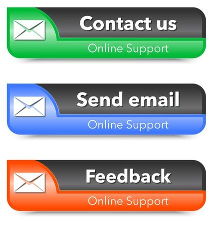 Online support web design elements. illustration Stock Vector - 18562553