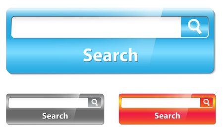 browser business: Search bar design.  Illustration